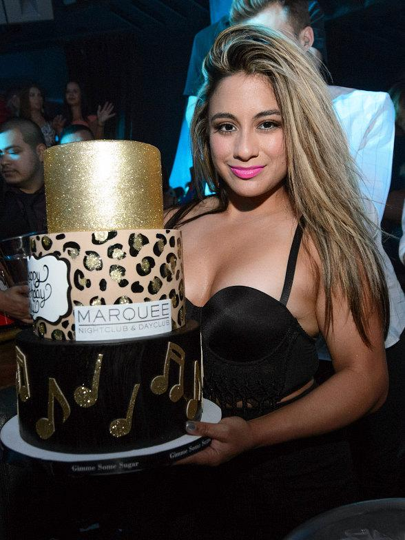 Ally Brooke from Fifth Harmony celebrates Birthday at TAO and Marquee in Las Vegas