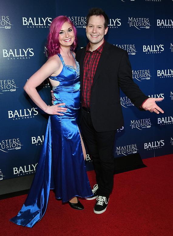 Amanda and Farrell Dillon on the red carpet at opening night of Masters of Illusion at Bally's Las Vegas