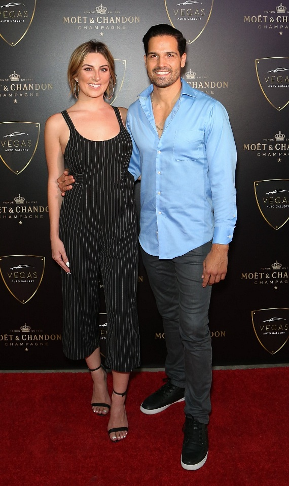 Amber Ramsay and Ricardo Laguna at Grand Opening of Vegas Auto Gallery's New Luxury Showroom