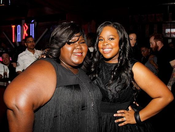 Amber Riley and Gabourey Sidibe in Tabú Ultra Lounge