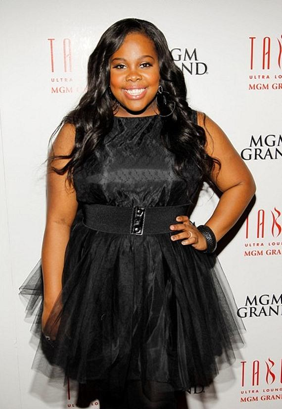 Amber Riley on Tabú Ultra Lounge Red Carpet