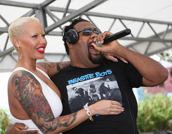 Amber Rose and Fatman Scoop all smiles at Ditch Fridays at Palms Pool & Dayclub