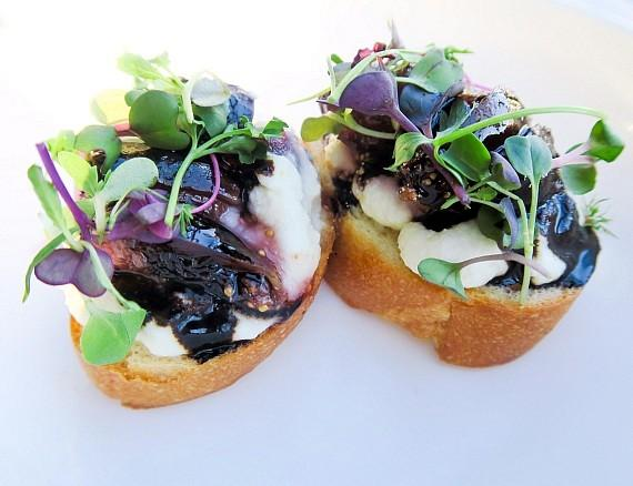 Americana Las Vegas Ricotta and Fig Toast