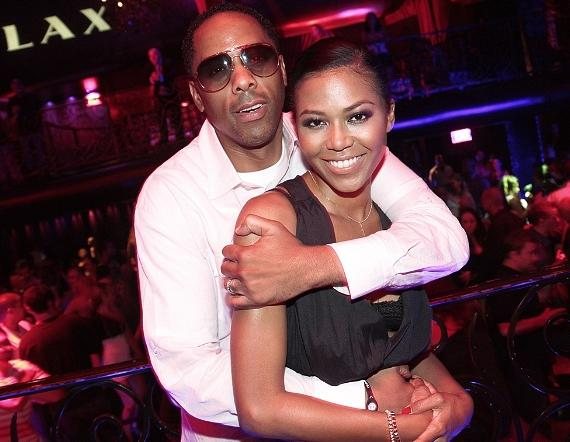 Amerie and husband at LAX Nightclub