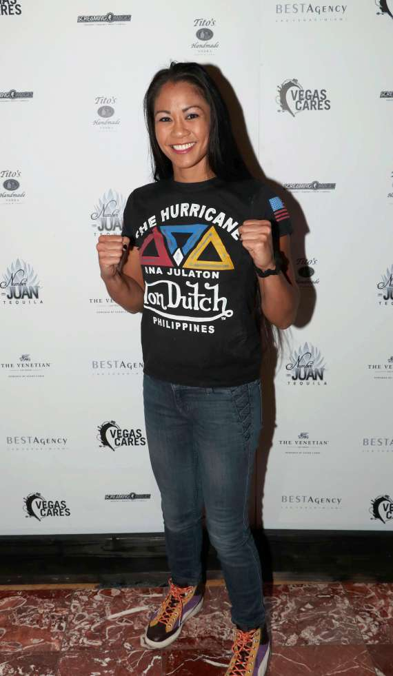 "Ana Julaton of Bellator MMA at ""Vegas Cares"" Benefit at The Venetian Las Vegas"