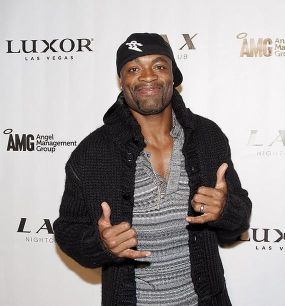 UFC champ Anderson Silva at LAX Nightclub