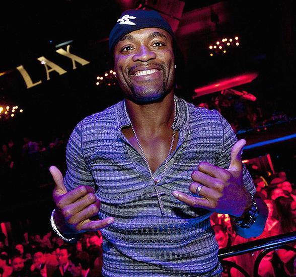 Anderson Silva Celebrates UFC Win at LAX Nightclub