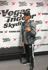 Canadian Sprinter Andre De Grasse at Vegas Indoor Skydiving
