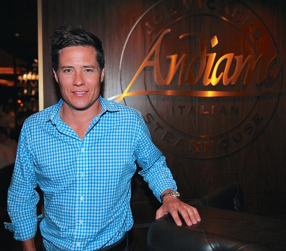 """Andrew Firestone from """"The Bachelor"""" dines at Andiamo Italian Steakhouse at the D Las Vegas"""