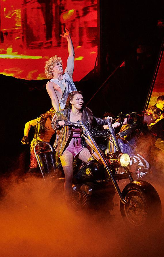 Andrew Polec and Christina Bennington in Bat Out of Hell - The Musical