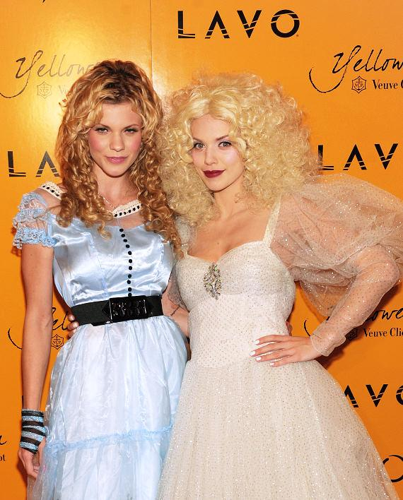 Angel and AnnaLynne McCord at Veuve Clicquot's Yelloween