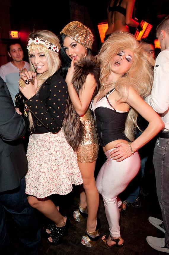 Angel Porrino, Melody Sweets and Penny Pibbets at LAVO