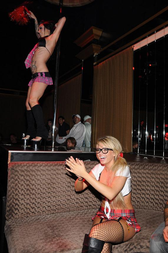 Angel Porrino hosts Sexy School Girl Competition at Posh Boutique Nightclub