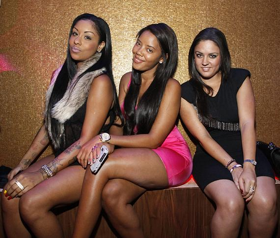 Angela Simmons and gal pals party at Vanity Nightclub in Las Vegas