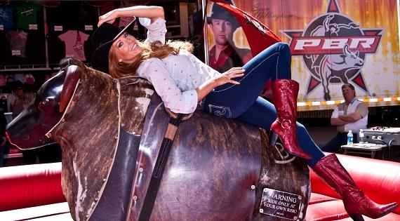 Angelica Bridges at Mechanical Bull Riding Showdown in Las Vegas