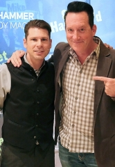 "Vegas Headliner Anthony Cools pays a visit to ""The Mike Hammer Comedy Magic Show"" at Four Queens Hotel & Casino"