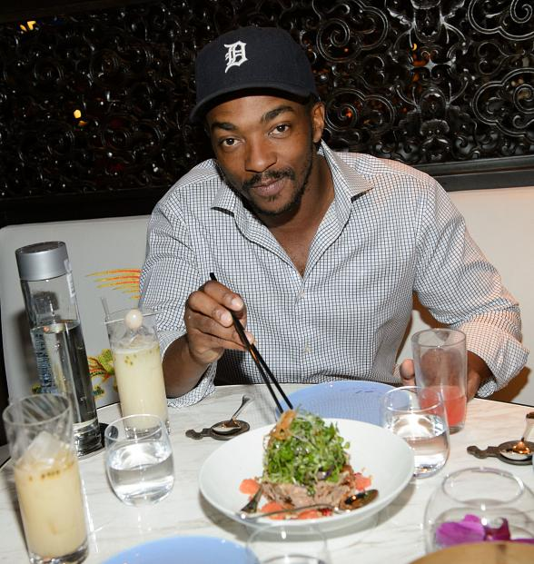 Actor Anthony Mackie Dines at Hakkasan Las Vegas