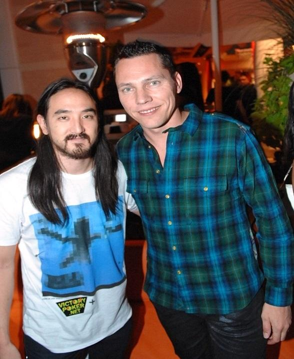 DJ Steve Aoki with Tiesto at Surrender Nightclub