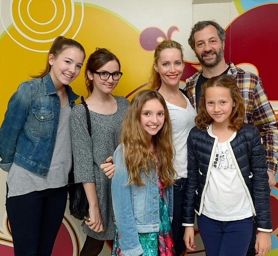 Apatow family with two friends