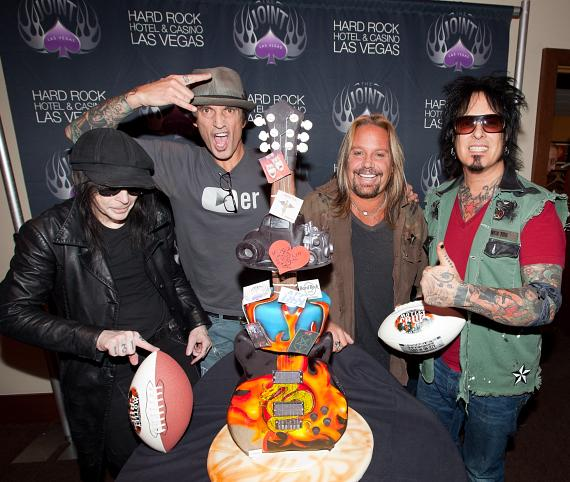 Mick Mars, Tommy Lee, Vince Neil and Nikki Sixx