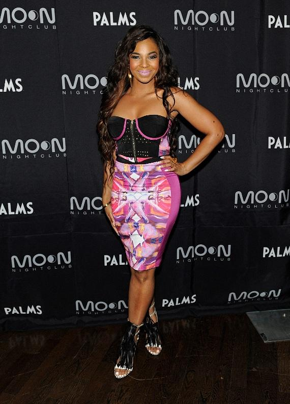 Ashanti looks beautiful on the red carpet at Moon Nightclub at Palms Casino Resort