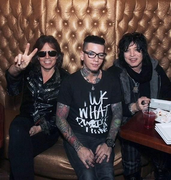 Joey Tempest, DJ Ashba and Tom Keifer in Vince's private Gold Room at Tatuado Eat-Drink-PARTY!