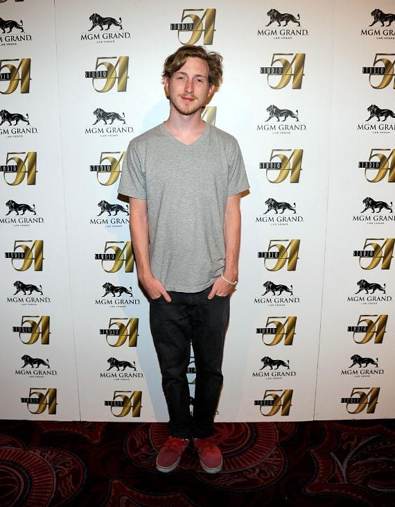 Asher Roth on red carpet at Studio 54 Las Vegas