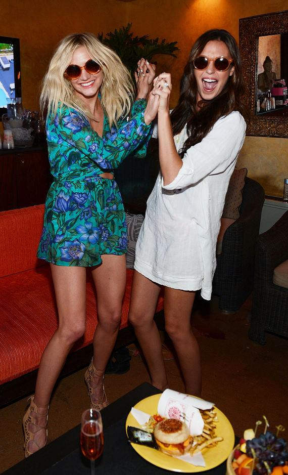 Ashlee Simpson and Odette Annable at TAO Beach
