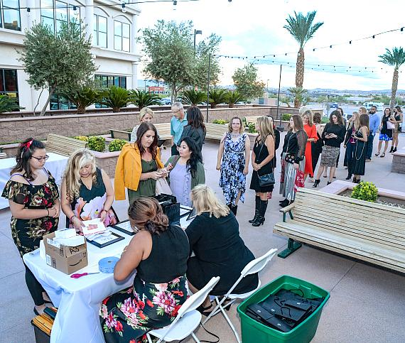 Attendees line up for 2018 style with a cause