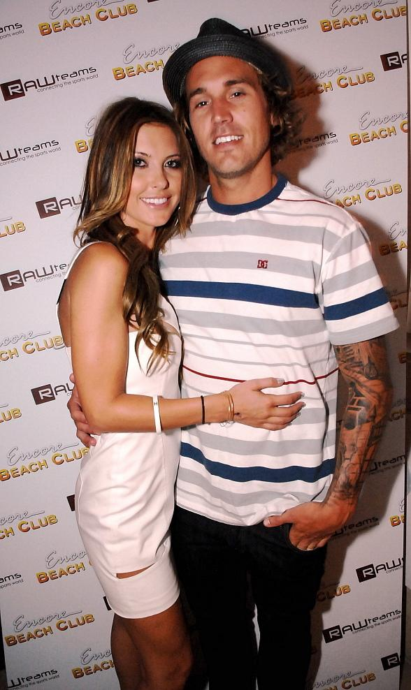 Audrina Patridge and Corey Bohan at Encore Beach Club