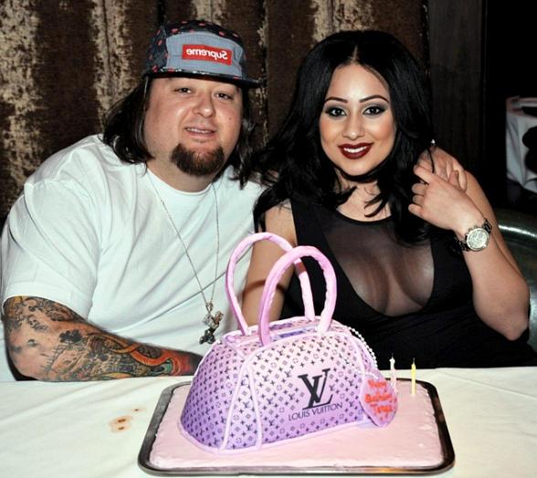 "Austin ""Chumlee"" Russell of Pawn Stars with girlfriend Tanya Hyjazi at Joe Vicari's Andiamo Italian Steakhouse"