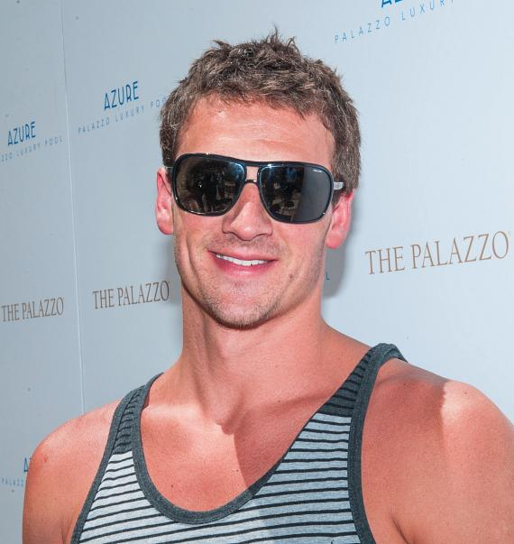 Olympic Gold Medalist Ryan Lochte Soaks Up Some Sun at Azure Luxury Pool at The Palazzo Las Vegas