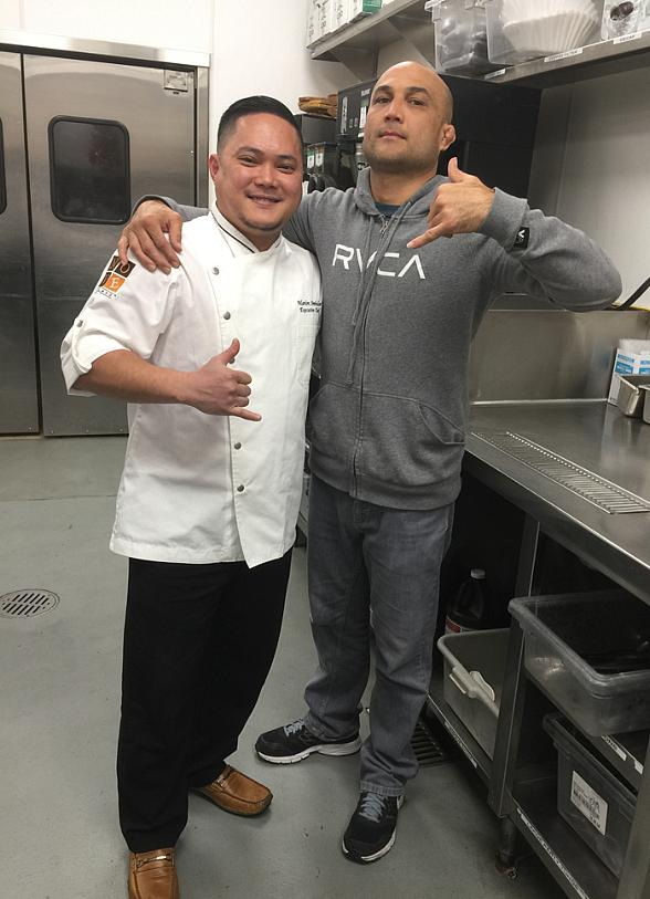 Anthony Smith, BJ Penn and Herb Dean stop by Palms Casino Resort over the Weekend