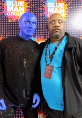 Nickelodeon's Bubba Ganter Visits Blue Man Group at Luxor Hotel and Casino in Las Vegas