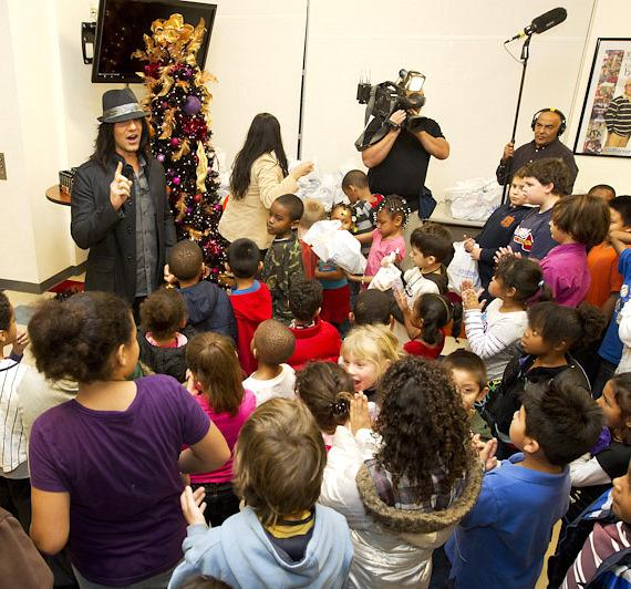 Criss Angel visits Boys & Girls Clubs of Las Vegas