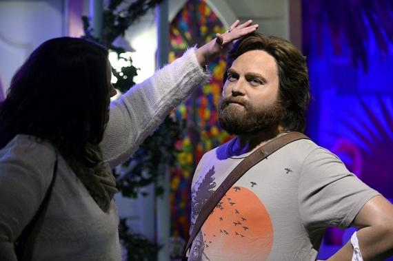 "New Wax Figure of Zach Galifianakis as ""Alan"" in The Hangover Experience at Madame Tussauds at The Venetian"