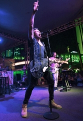 Russell Dickerson and Jimmie Allen Perform at the Flamingo GO Pool Country Cabana Concert Series Presented by 102.7 The Coyote