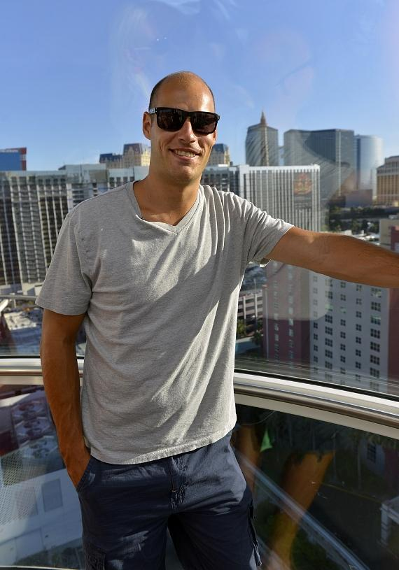 Ryan Getzlaf inside the High Roller at The LINQ