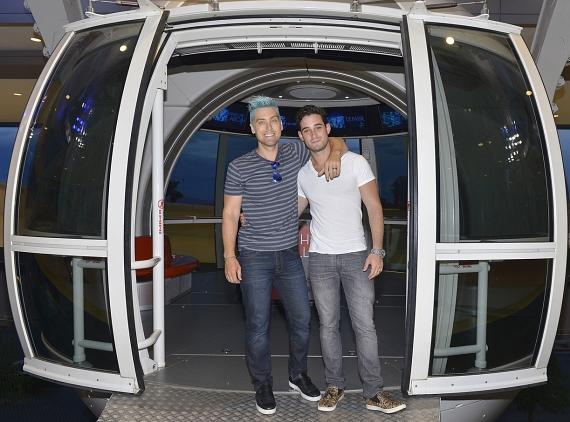 Lance Bass and Michael Turchin at the High Roller at The LINQ in Las Vegas