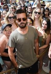 Scott Disick Hosts at 1 OAK Nightclub and LIQUID Pool Lounge in Las Vegas
