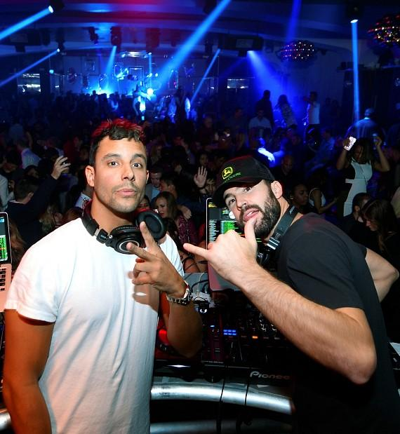 DJ Devin Lucien and Brody Jenner at Hyde Bellagio