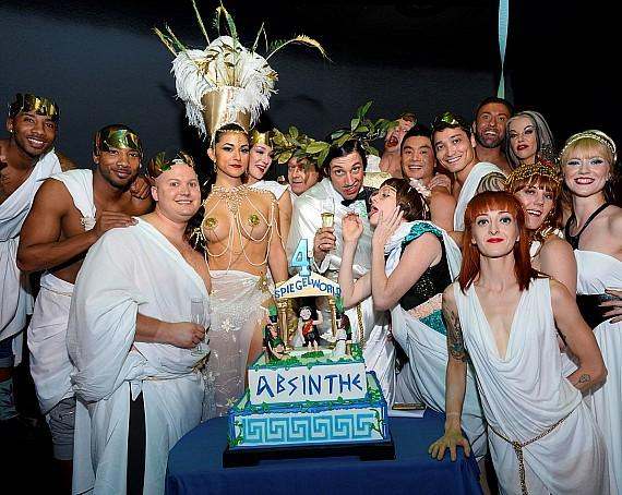 Cast of Absinthe celebrates 4-year anniversary at Caesars Palace in Las Vegas