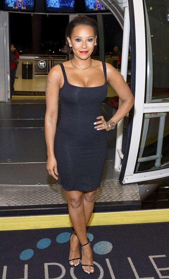 Mel B boards the world's tallest observation wheel, the High Roller at The LINQ Promenade in Las Vegas