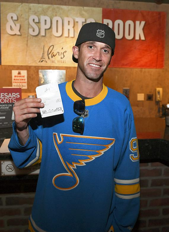 St. Louis Blues Fan Collects $100,000 Stanley Cup Wager Winnings at Paris Las Vegas