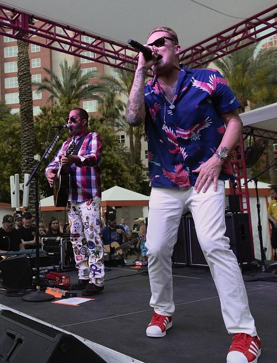 Mark McGrath and Sugar Ray perform at The Flamingo Go Pool in Las Vegas
