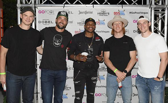 Singer Jimmie Allen and Vegas Golden Knights Players Nick Holden, Deryk Engelland, Cody Eakin Kicks Off Flamingo GO Pool's Country Concert Series with 95.5 The Bull