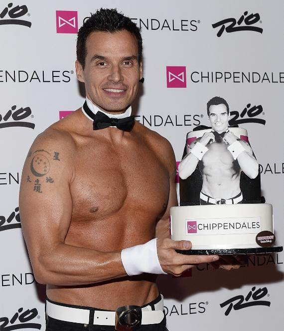 Antonio Sabato Jr on red carpet at Chippendales at Rio All-Suite Hotel & Casino