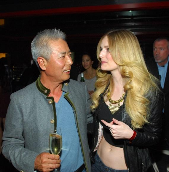 Clothing designer Yul Ku and actress Lydia Hearst