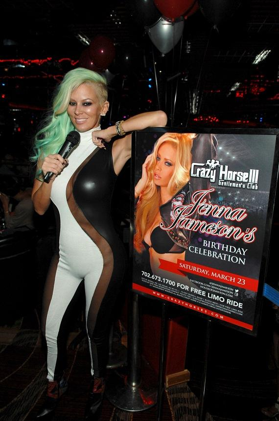 Jenna Jameson with poster