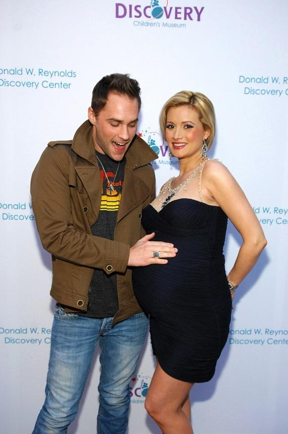 Josh Strickland and Holly Madison at opening of The Discovery Children's Museum